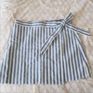 JCrew textured wrap mini skirt size 10p